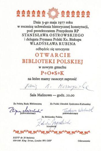 otwarcie biblioteki polskiej