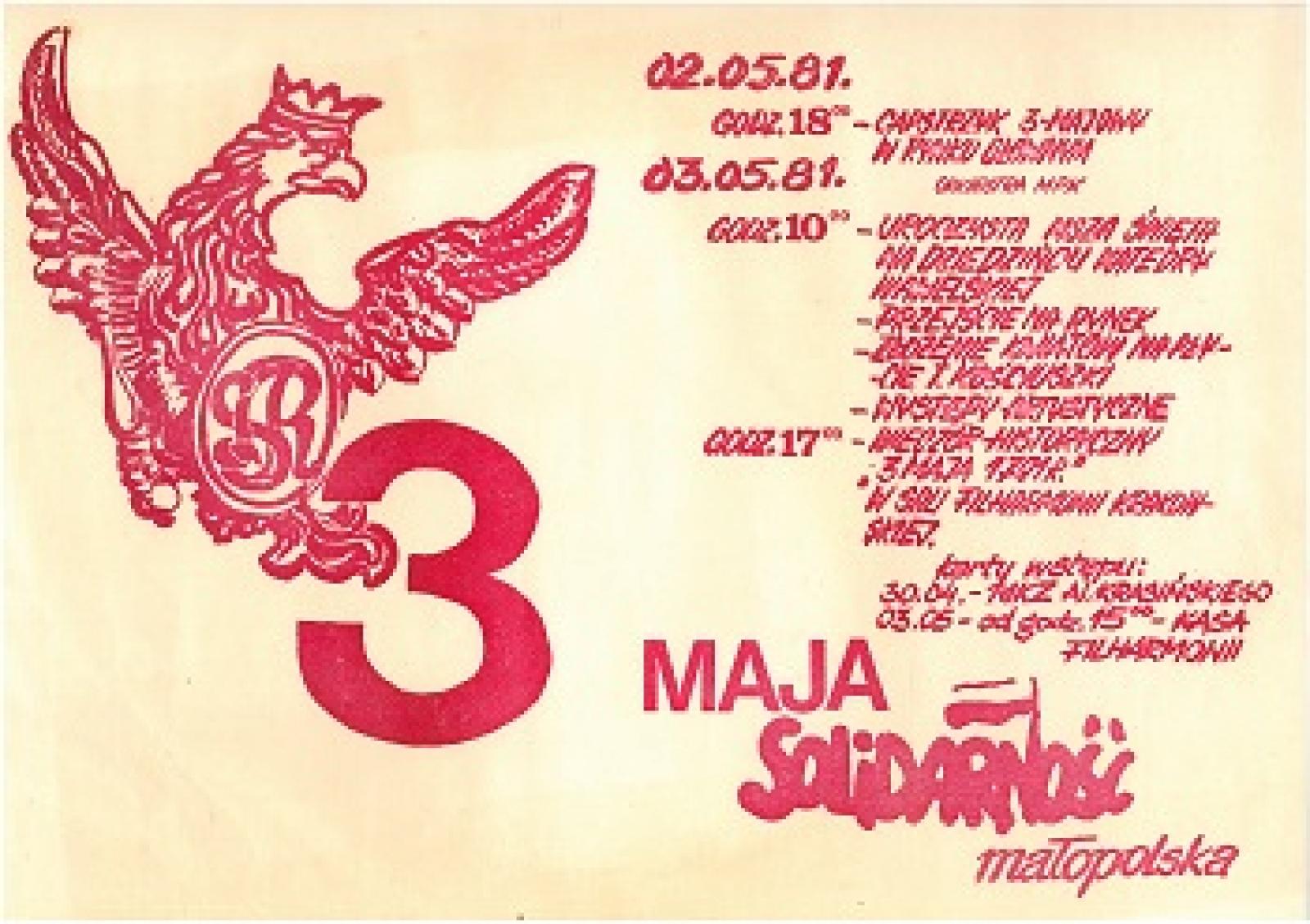 3 maja solidarnosc malopolska